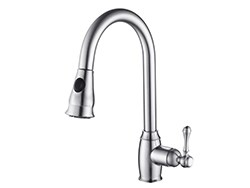 single handle cupc pull out kitchen sink faucet